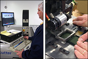 IOI military fabric parts are cut by a computer controlled Gerber system and heavy webbing is sewn on class 7 machines